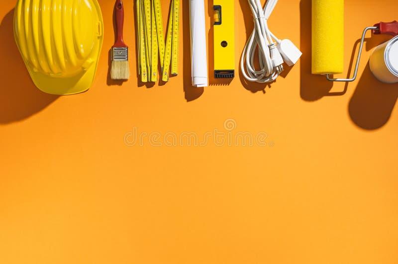 Home renovation, repair and DIY tools stock photography