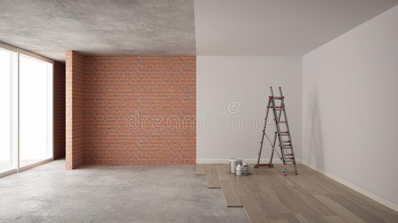 Home Renovation, Restructuring Process, Repair And Wall