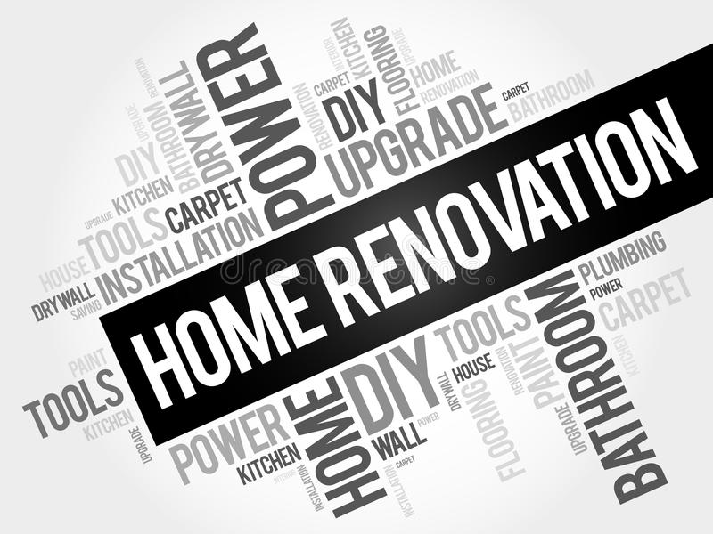 Home Renovation Word Cloud royalty free illustration