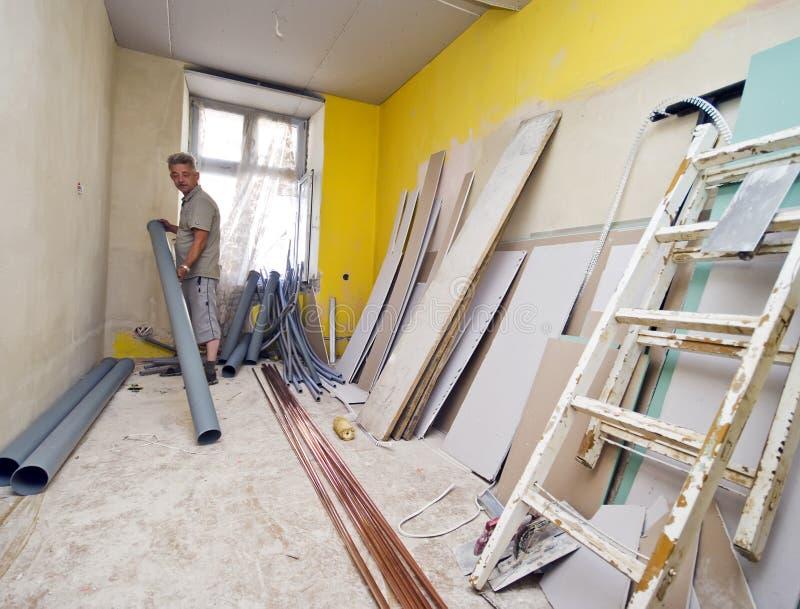 home renovering arkivfoton