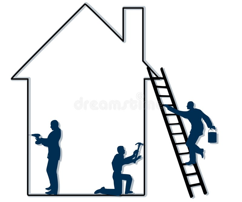 Home Repair Contractors royalty free illustration