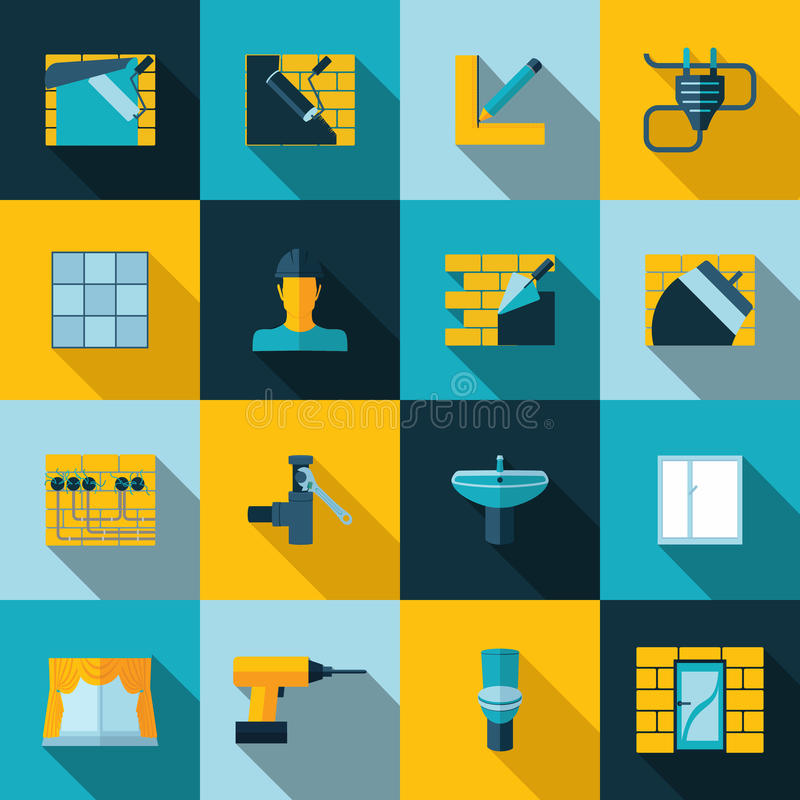 Home repair icons royalty free illustration