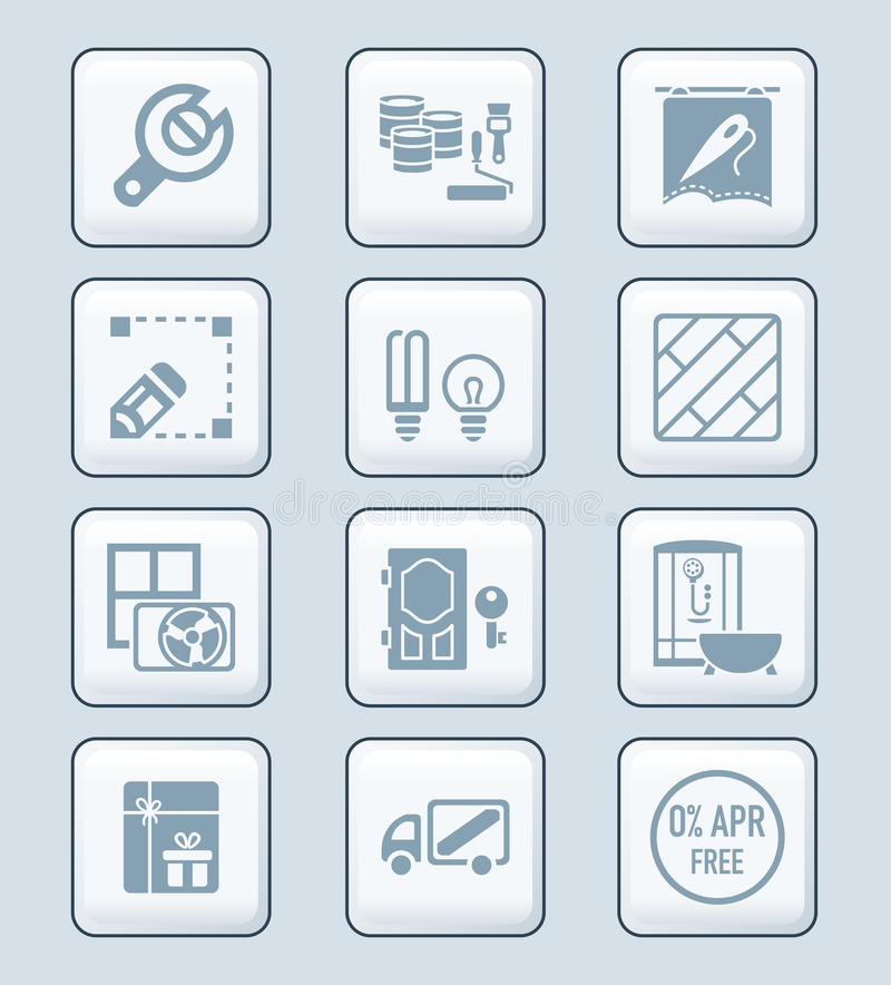 Home repair icons   TECH series royalty free illustration