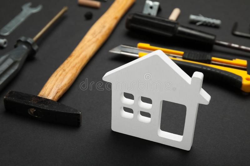 Home repair service, abstract hardware building. Construction creative concept.  stock image