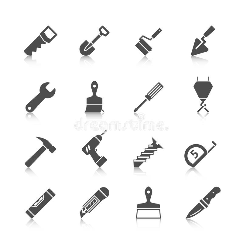 Home Repair Tools Icons Stock Vector - Image: 43565025