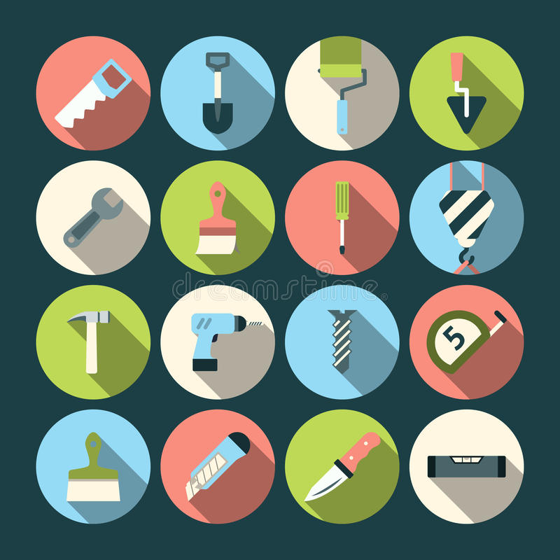 Home Repair Tools Icons vector illustration