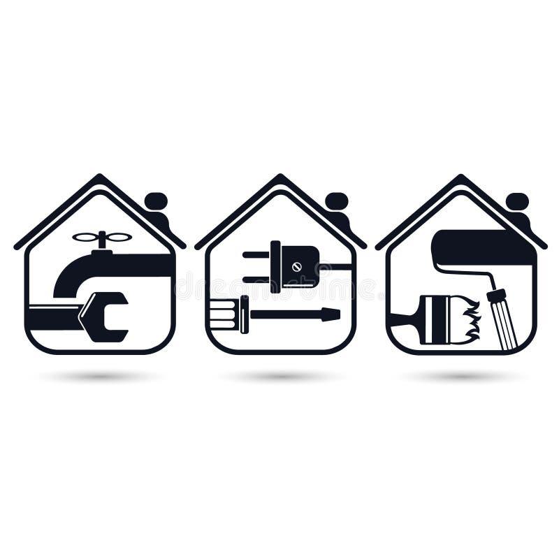 Home repairs stock illustration