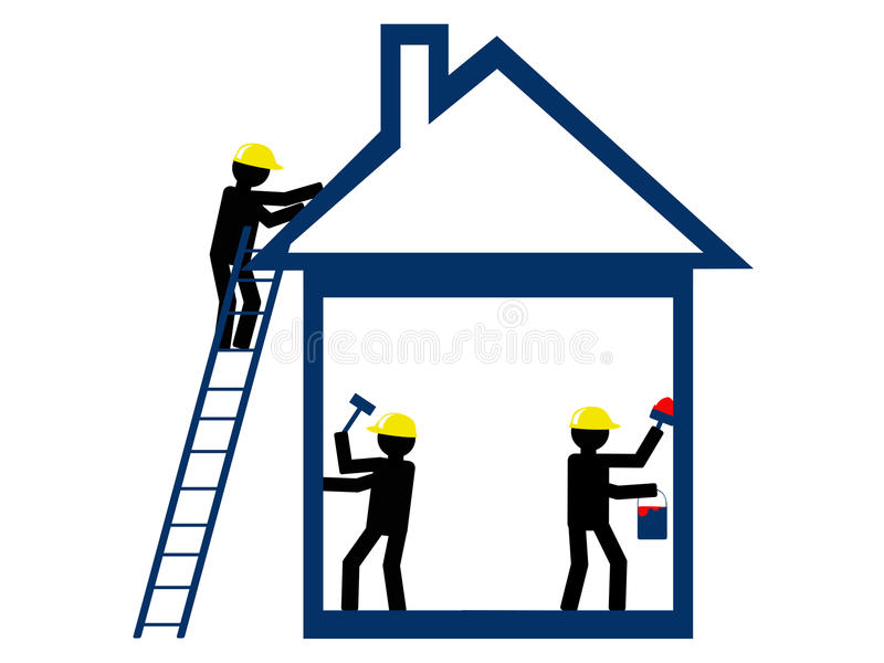 home reparation stock illustrationer