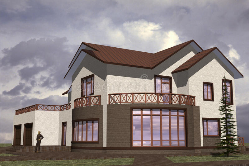 Home Residential vector illustration
