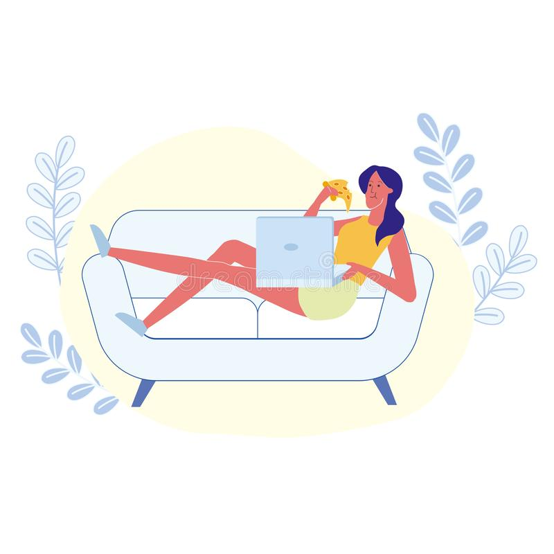 Home Rest, Introvert Pastime Vector Illustration vector illustration