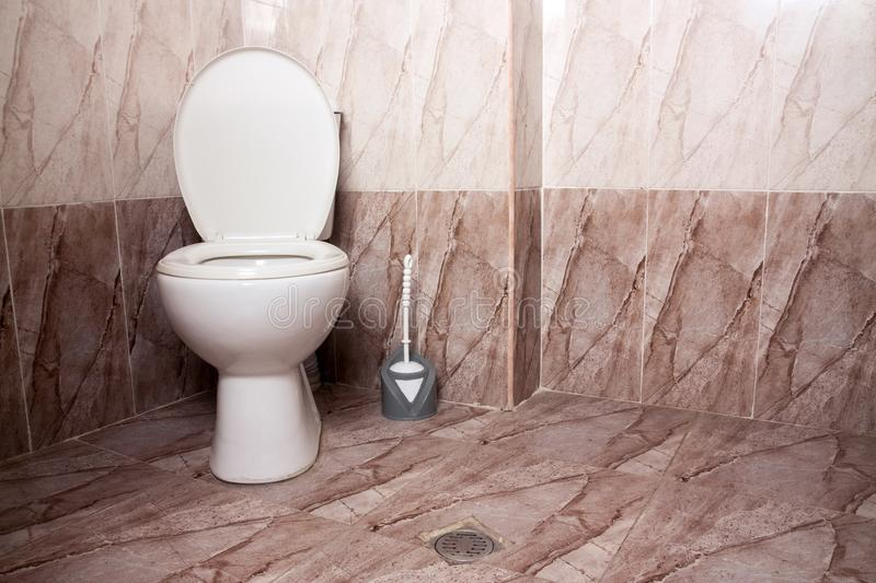 Home restroom toilet royalty free stock photography