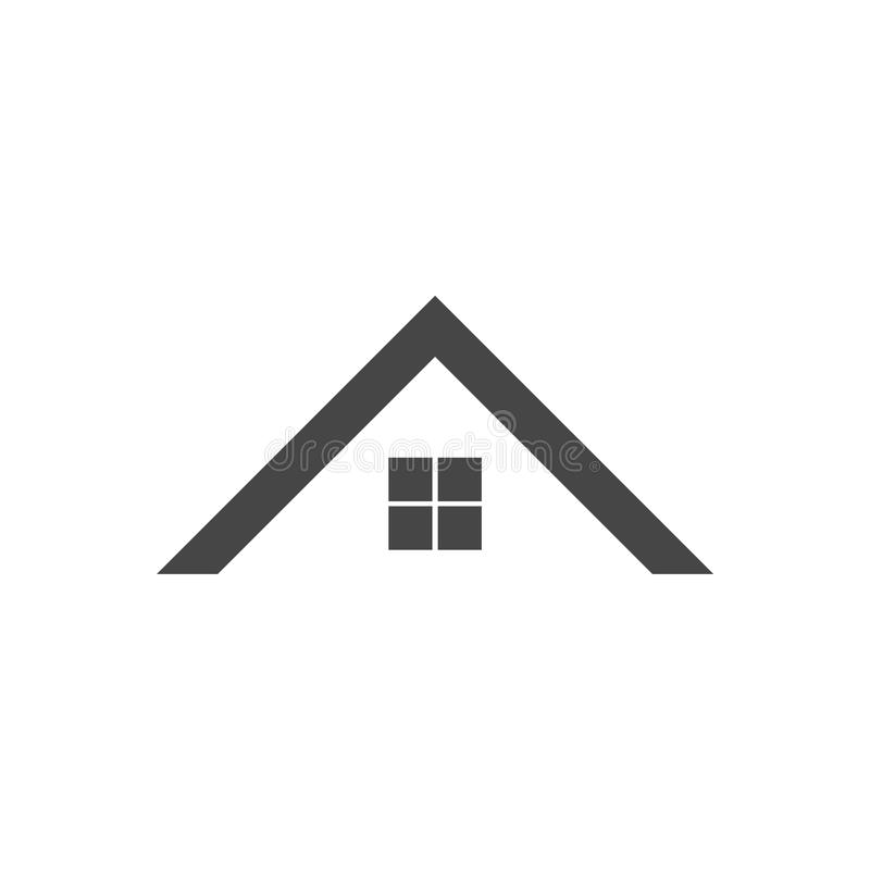 Home roof icon. Vector icon stock illustration