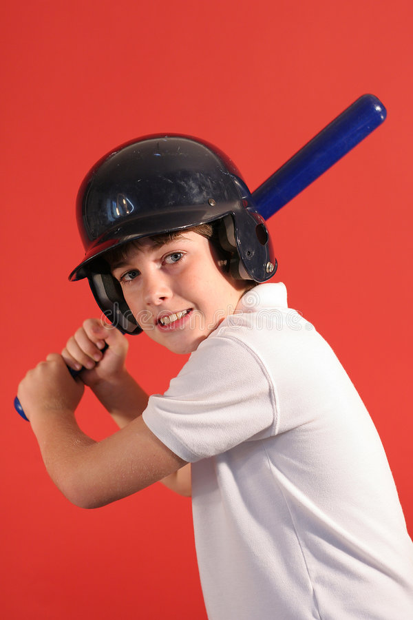 Home run hitter vertical royalty free stock photography