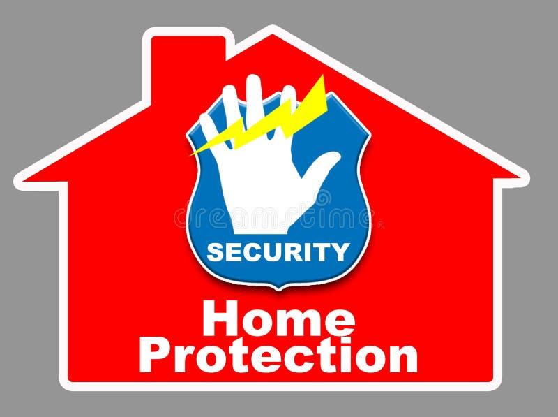 home säkerhet vektor illustrationer