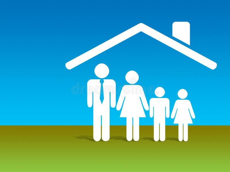 home säkerhet för finans stock illustrationer