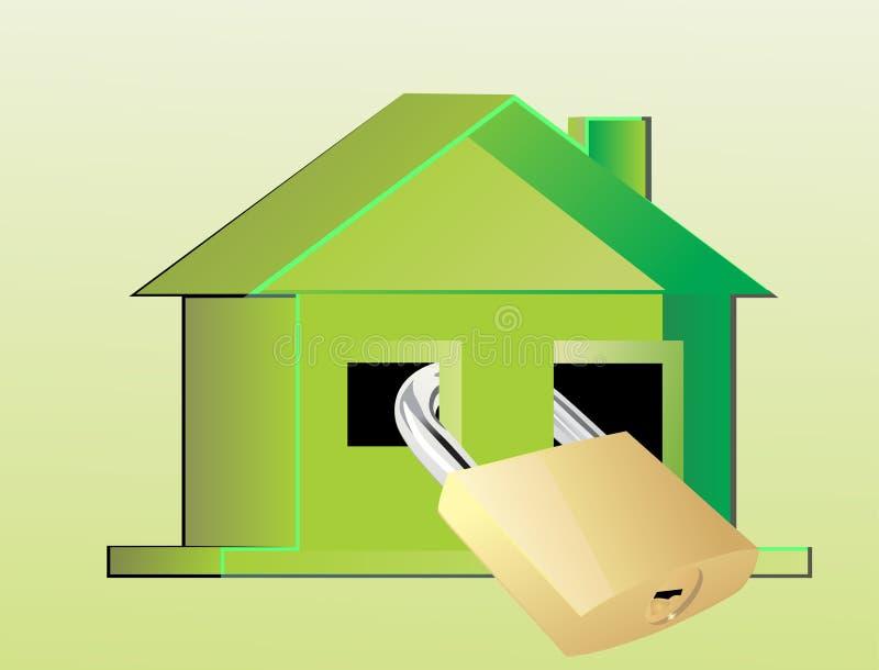 home safe vektor illustrationer
