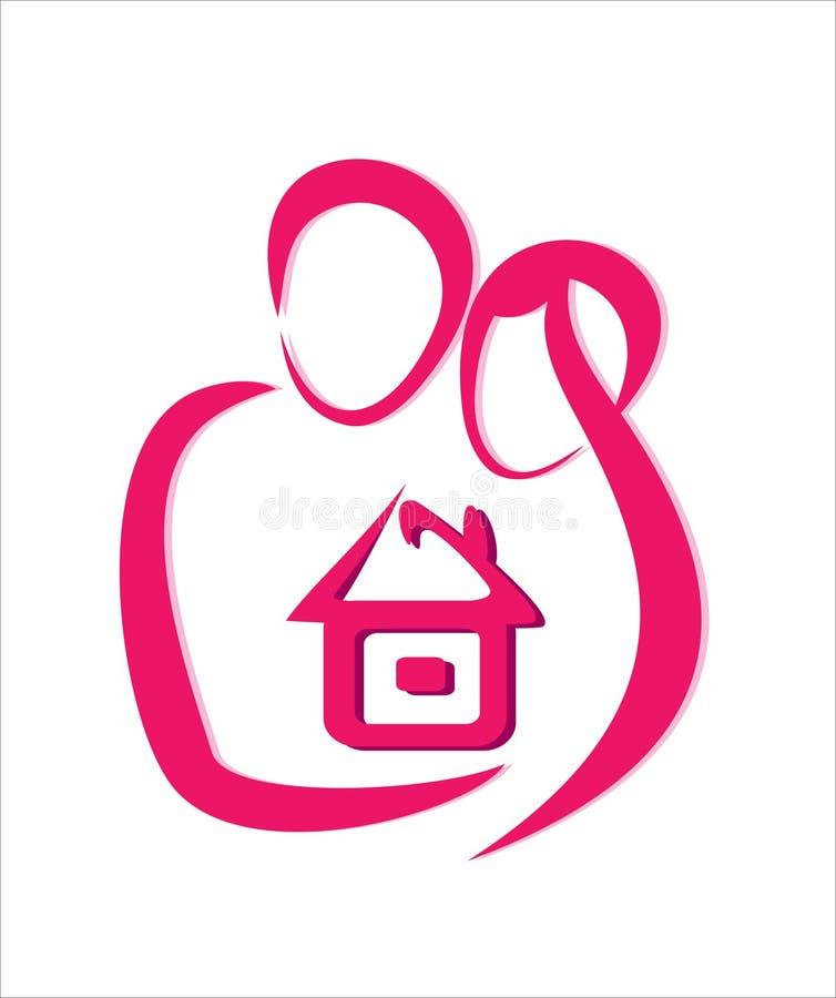 home safe för begrepp royaltyfri illustrationer
