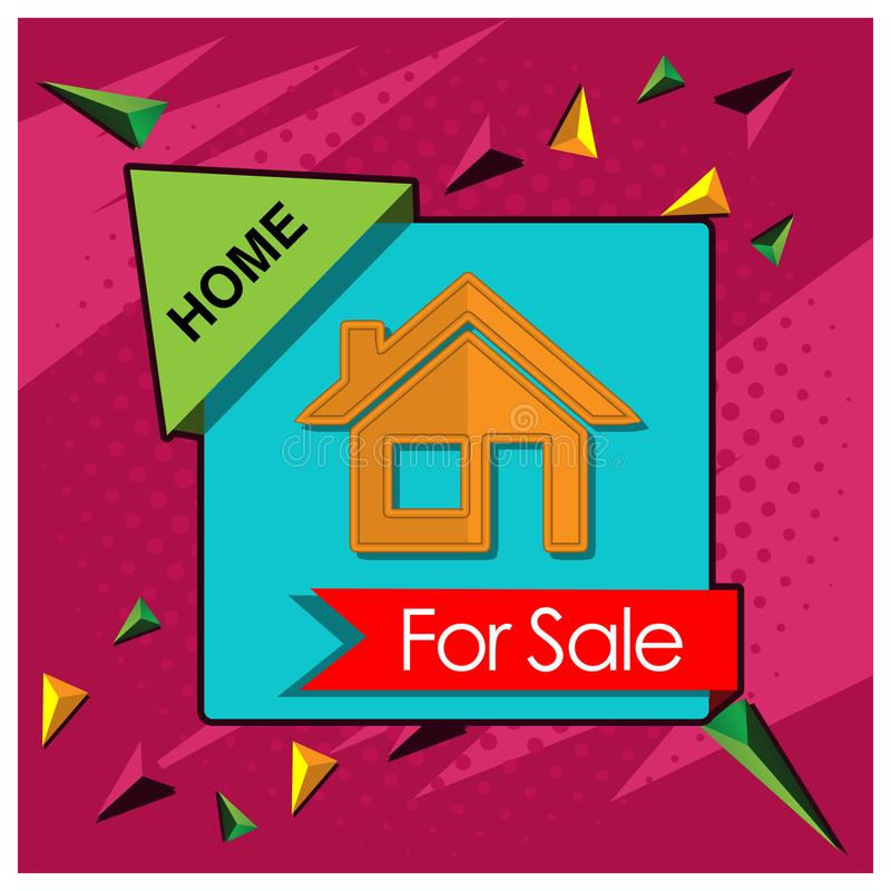 Home sale banner. designs for posters, backgrounds, cards, banners, stickers, etc vector illustration