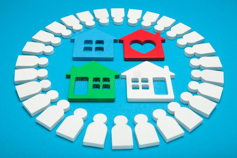 Home sale concept, loan estate. Rent payment, rent agency royalty free stock photos