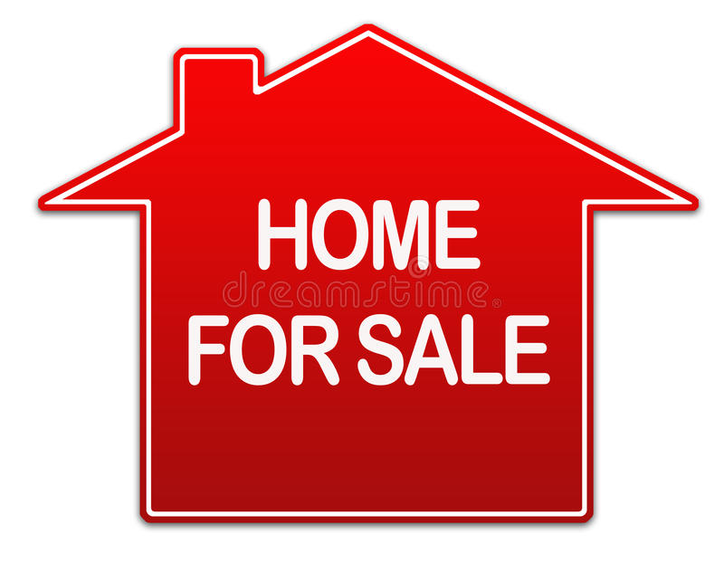 Home for sale real estate sign vector illustration