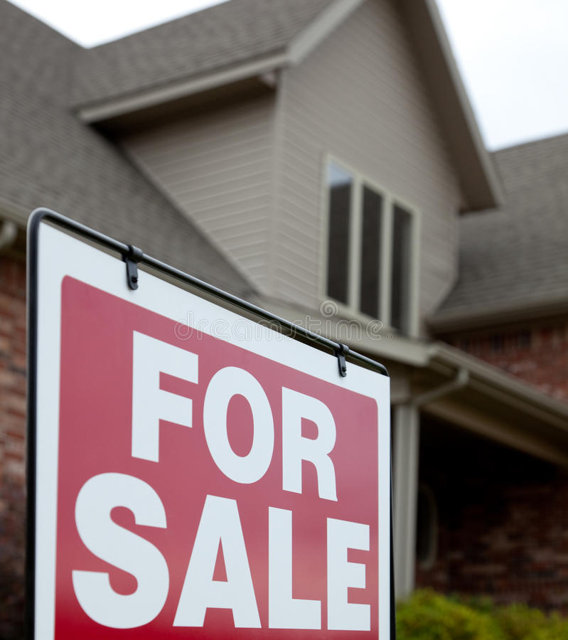Download Home With A For Sale Sign In The Yard Royalty Free Stock Photo - Image: 13777815