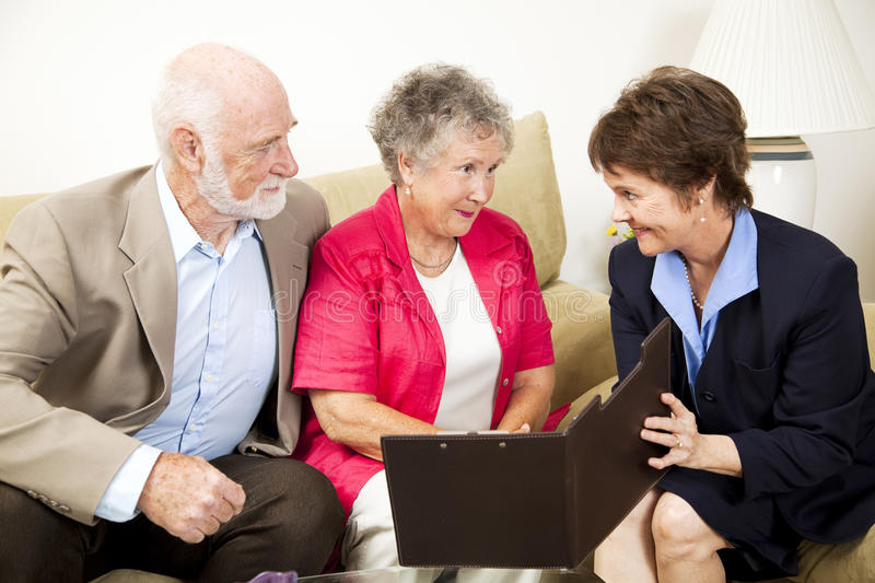 Download In-Home Sales Meeting stock image. Image of couple, consultant - 15879393