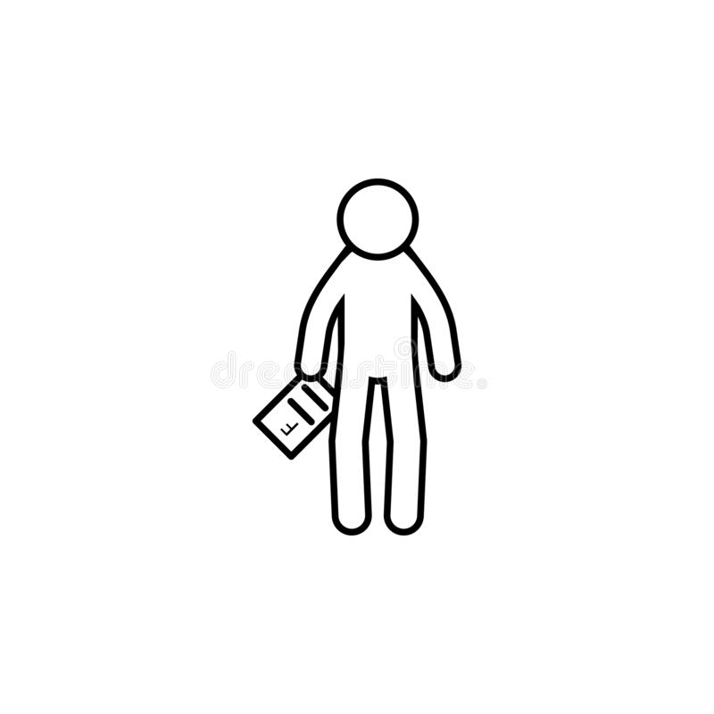 Home schooling, failed icon. Element of home schooling icon. Thin line icon for website design and development, app development. Premium icon on white stock illustration