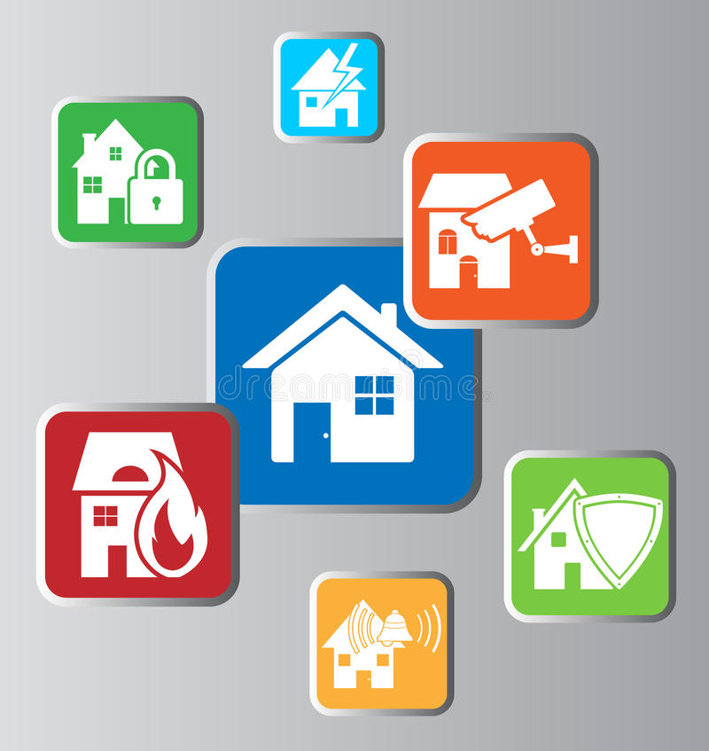 Home security stock illustration
