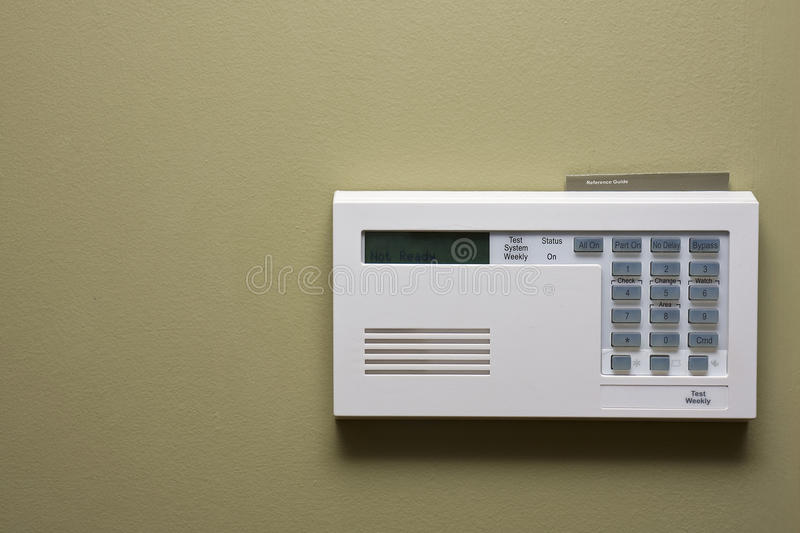 Home security control panel stock image