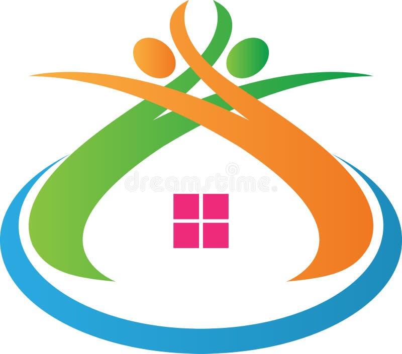 HOME segura ilustração royalty free