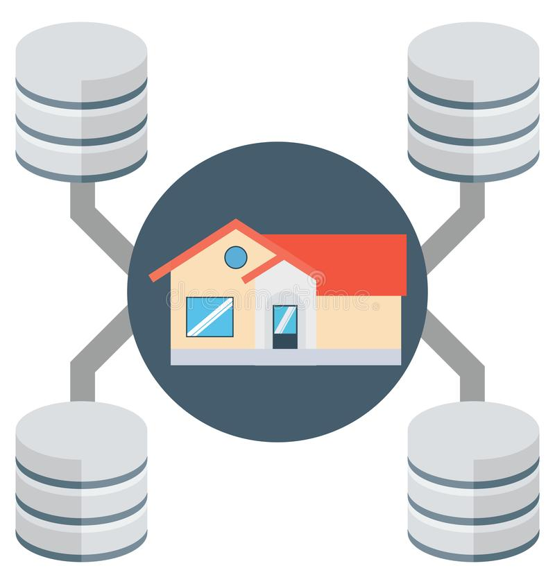Home server, main server isolated which can be easily edit or modified stock illustration