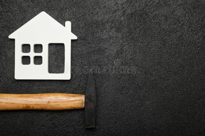 Home service background, plumbing accessories. Copy space for text royalty free stock photos