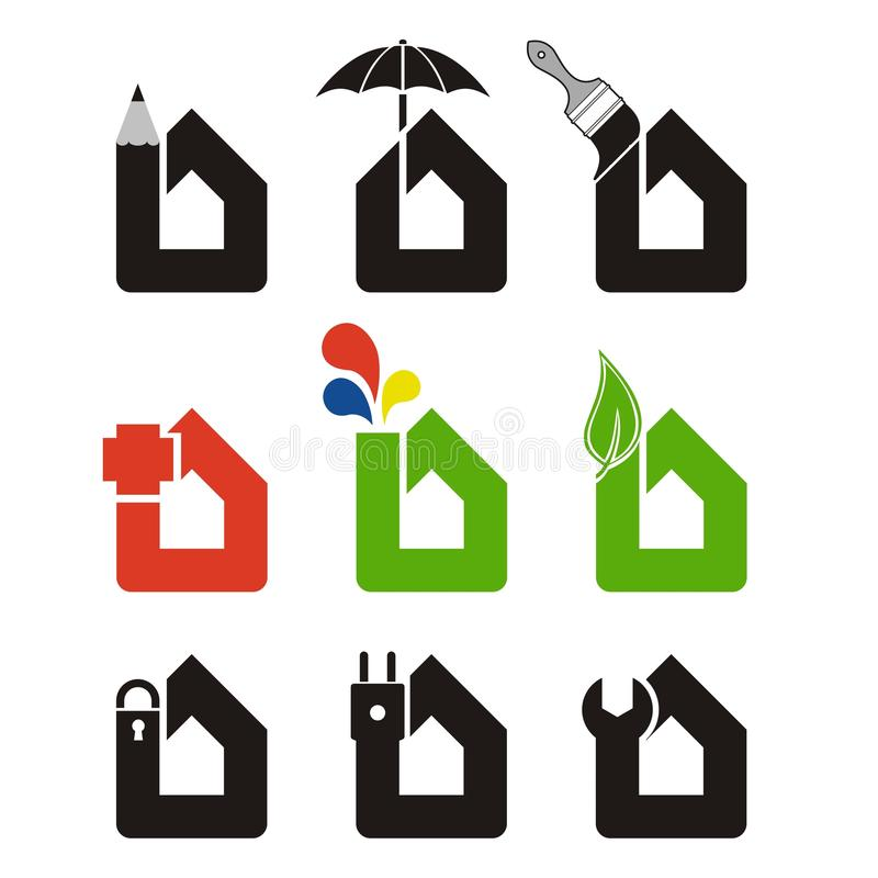 Home services icons