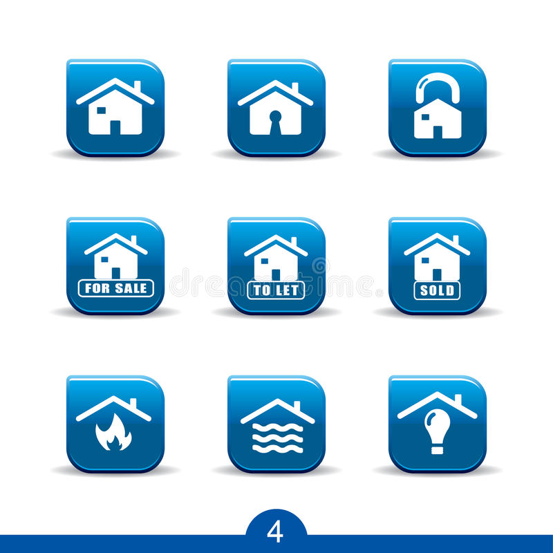 Home services icons 4..smooth series royalty free illustration