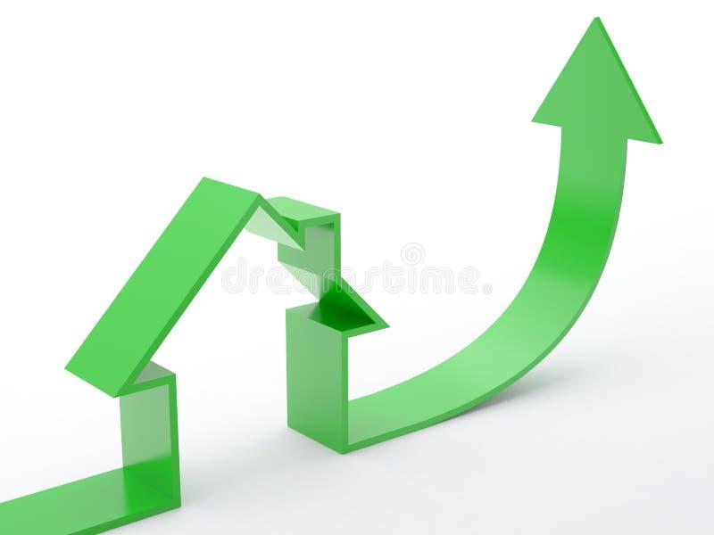 HOME-seta ilustração stock