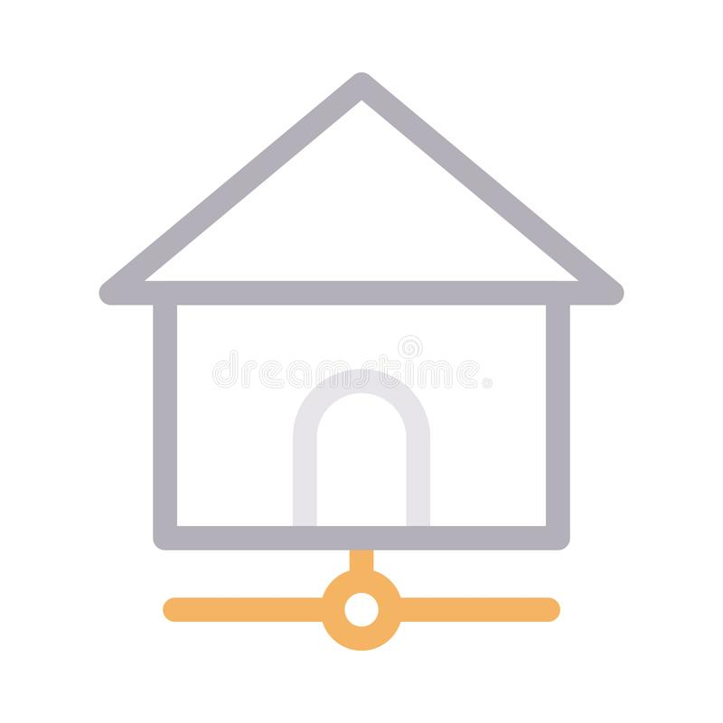 Home sharing thin color line vector icon. Home sharing vector icon. Elements for mobile concept and web apps. Thin line icons for website design and development vector illustration