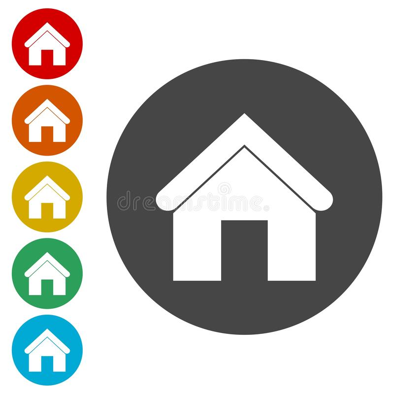 Home sign icon. Main page button. Vector icon royalty free illustration