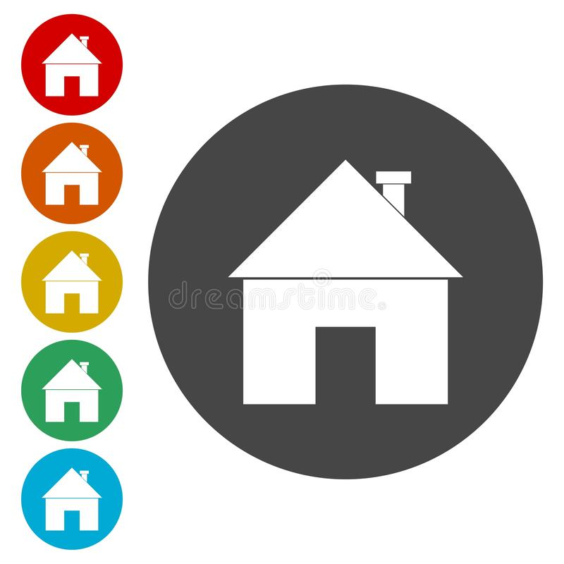 Home sign icon. Main page button. Navigation symbol. Vector icon stock illustration