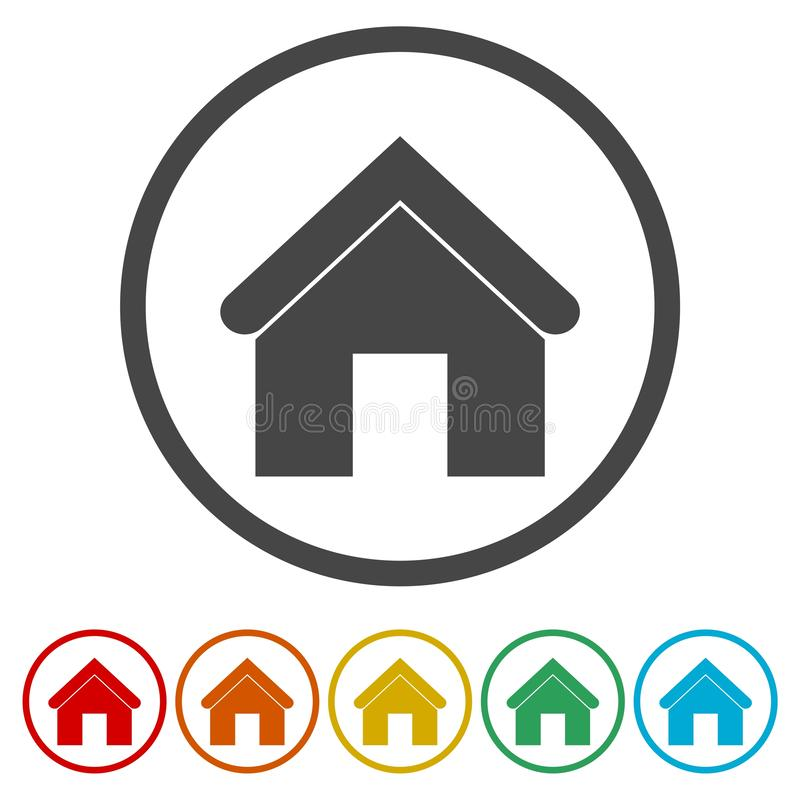 Home sign icon. Main page button. Vector icon stock illustration