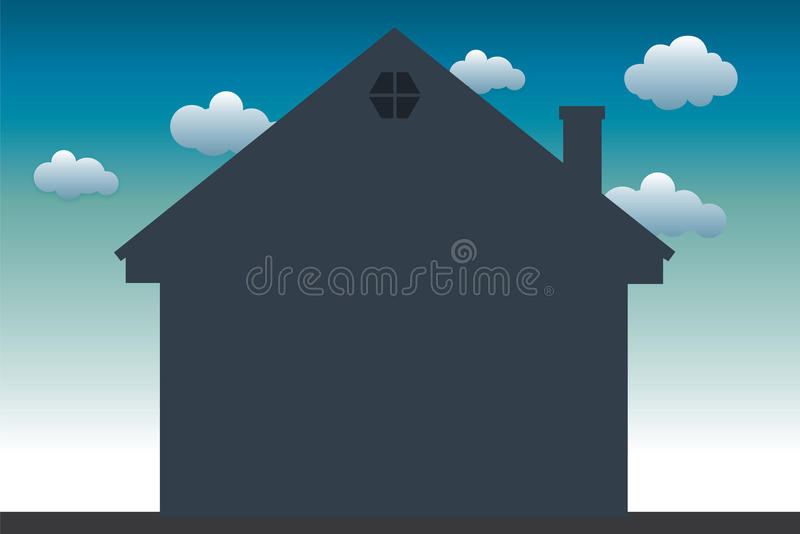 Home silhouette royalty free stock images
