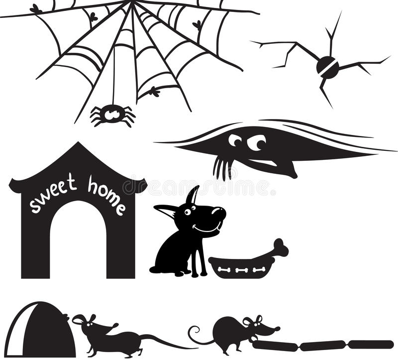Download Home silhouettes stock vector. Image of element, home - 15614458