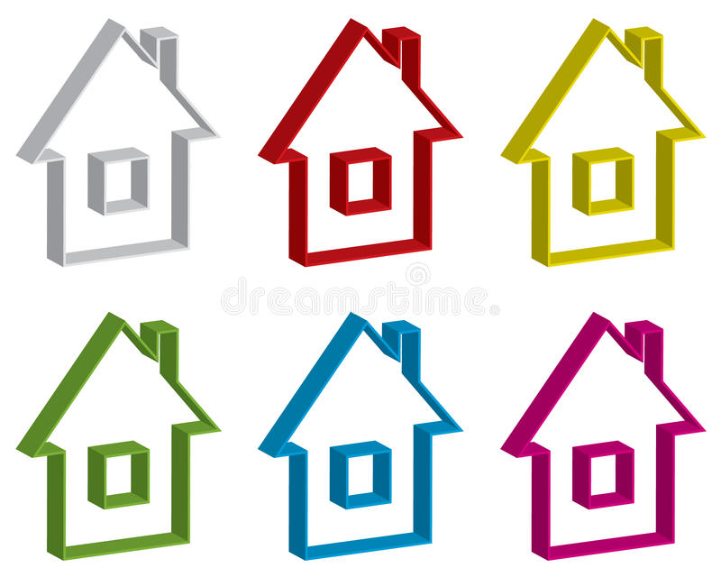 Home site buttons set stock illustration