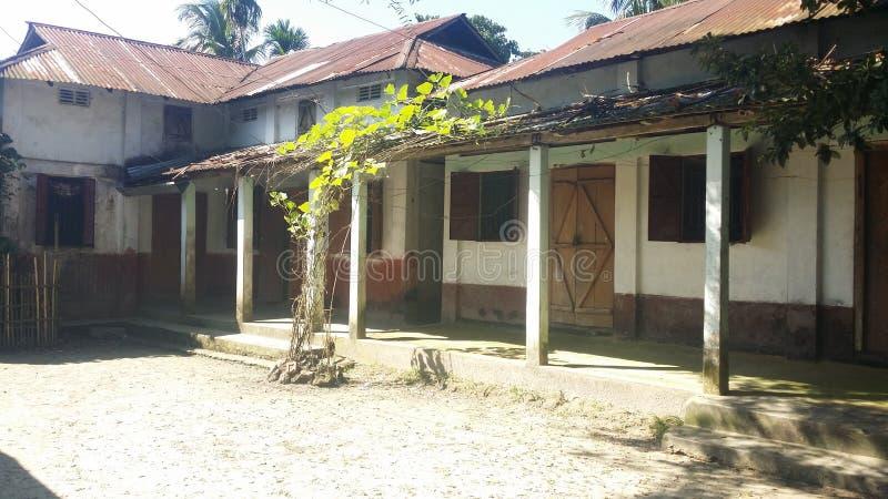 home skissar den lantliga husillustrationen för teckningen byn fotografering för bildbyråer