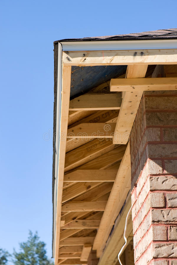 Home Soffit Framing Stock Photo Image Of Construction