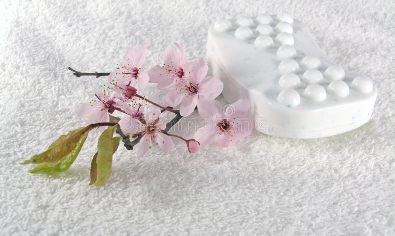 Home spa - zeep stock afbeelding
