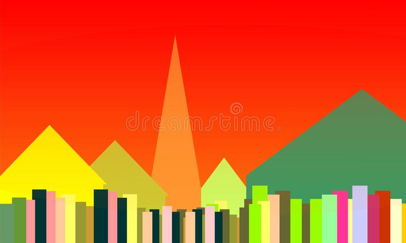 Home square wallpaper stock photography