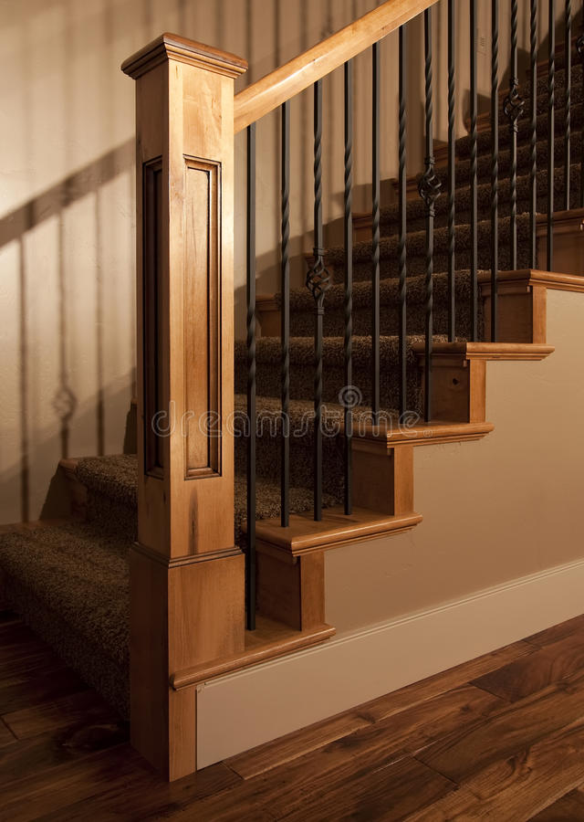 Exceptional Download Home Staircase Post And Railing Stock Image   Image: 9933073