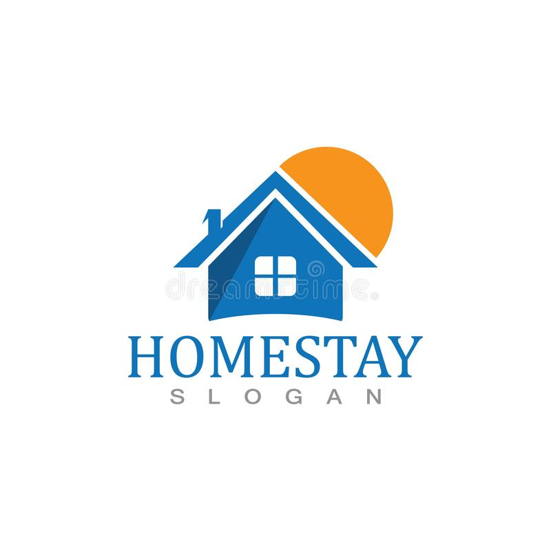 Home stay logo design vector template illustration icon. Home stay logo design vector template illustration icon, abstract, apartment, architecture, background stock illustration