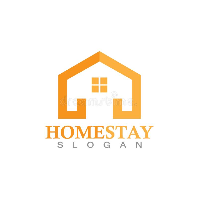 Home stay logo design vector template illustration icon. Home stay logo design vector template illustration icon, abstract, apartment, architecture, background vector illustration
