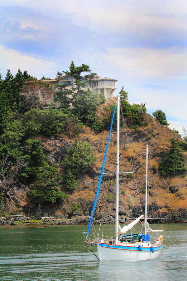 Download Home, Steep Cliff, Sailboat Stock Image - Image: 32774107